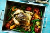 Rachel Khoo's herb butter roast chicken with summer vegetables <a ...