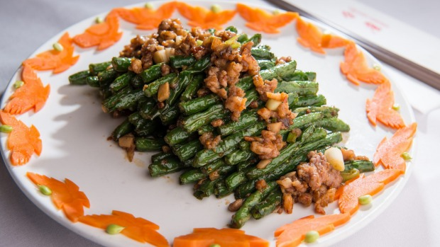 Green beans with minced pork.