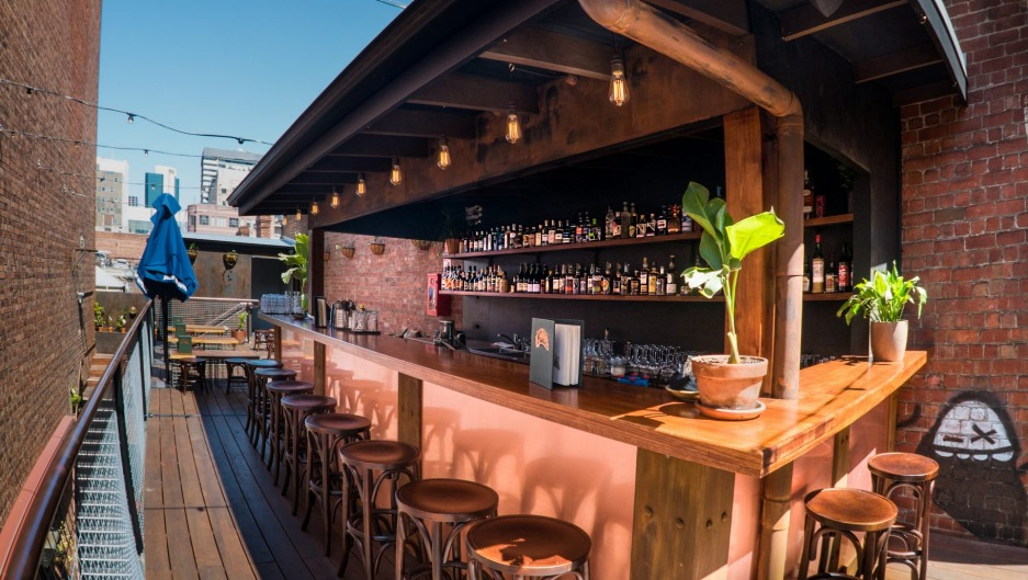 Union Electric's rooftop gin garden.