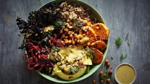 With sweet potato, kale and quinoa, this grain bowl is as healthy as it is tasty.