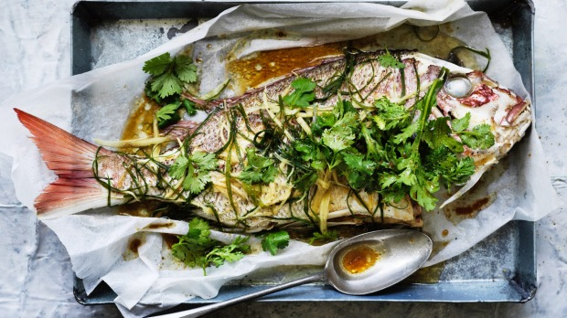 Whole fish, cooked with bones in and head on, tastes better than fillets.
