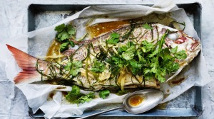 Symbolic steamed snapper.