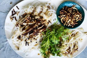 This noodle dish, using traditionally long noodle strands, represents longevity.