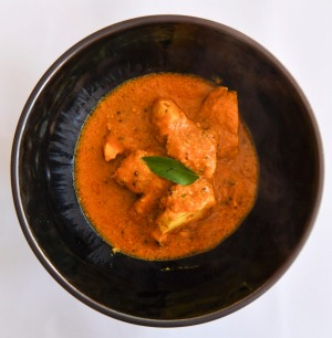 Butter chicken at Southall Indian restaurant in St Kilda.