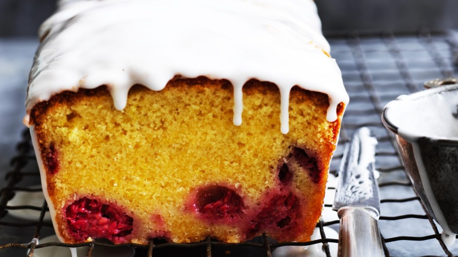 Helen Goh's lemon and raspberry loaf cake.