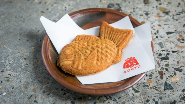 Taiyaki fish-shaped pastry.