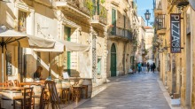Off the tourism radar: a neighbourhood cafe in Lecce, Puglia.