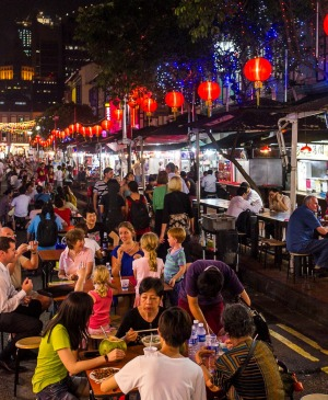 Chinatown Food Street is a converted alfresco food trail with 24 hawker stalls and six shophouse restaurants. Try Katong ...