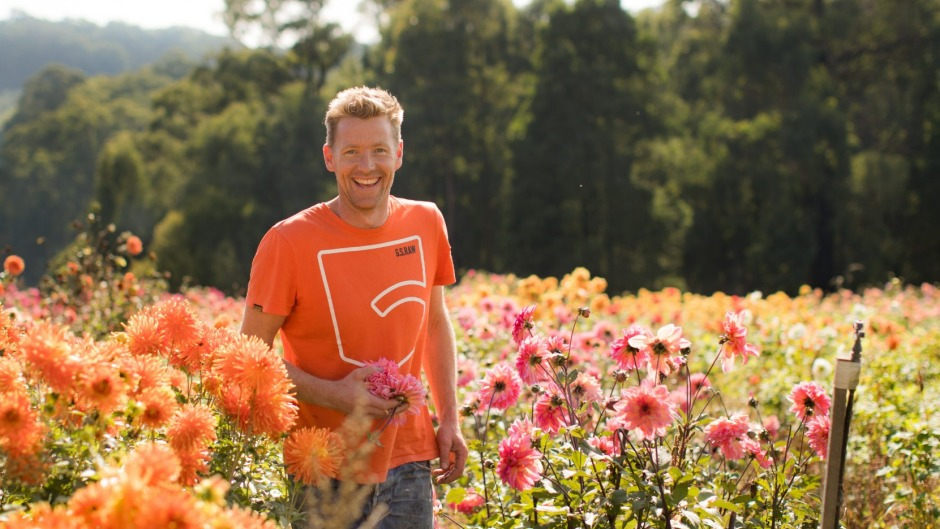 Flower grower and sustainability activist Joost Bakker promotes green design and zero waste.