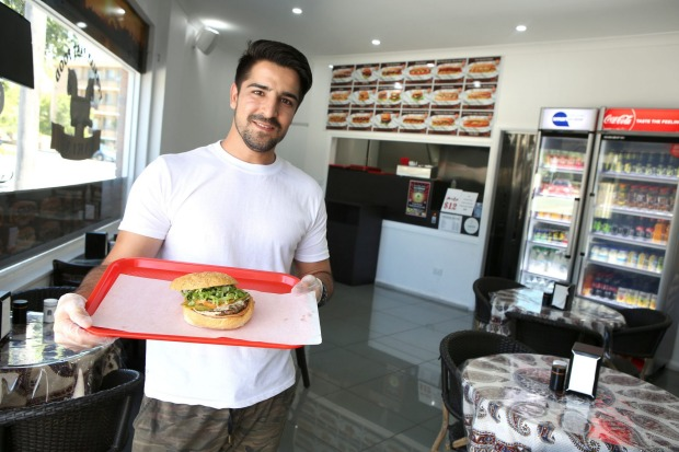 Aria Persian Fast Food's Mohammed Isaq in North Parramatta.