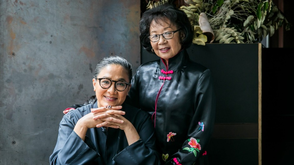 Kylie Kwong and her mother Pauline at Billy Kwong in Potts Point.
