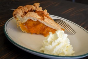 Apricot and cinnamon pie at Dunning Kruger.