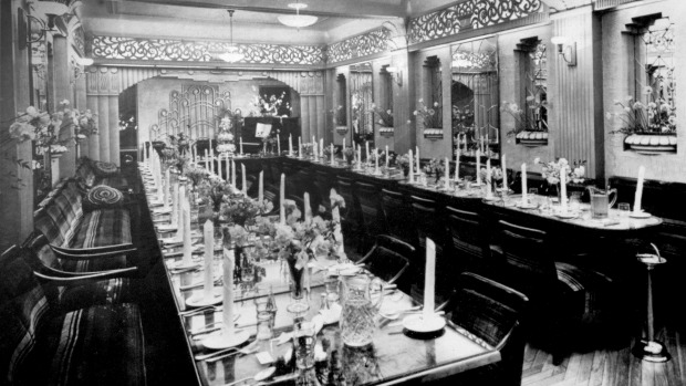 The banquet hall at the  Paragon in 1938.