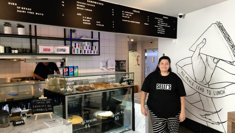 Owner Lauren Sellick inside new Civic sandwich joint Selli's.