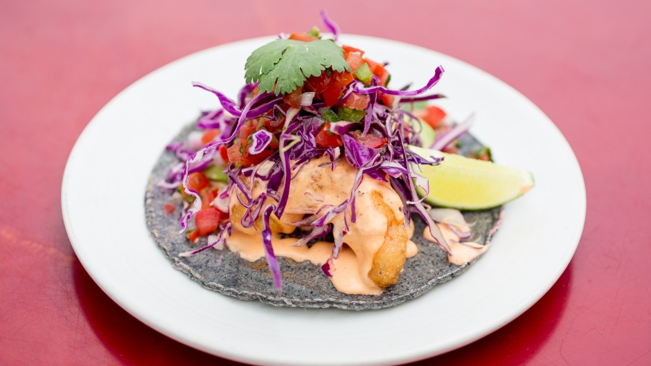 New wave of cooking: Galaxy Taco's Baja fish tacos.