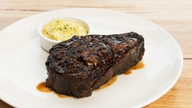 Rangers Valley rib-eye with bearnaise sauce.