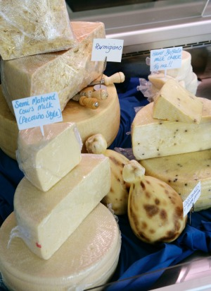 Italian-style cheeses at the original La Latteria in Carlton.