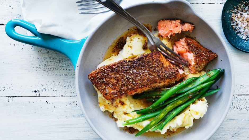 Put traditional pastrami spices to work on a midweek fresh salmon fillet.