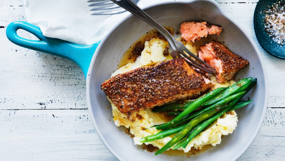 Invest in smaller cookware, and make friends with your fishmonger.
