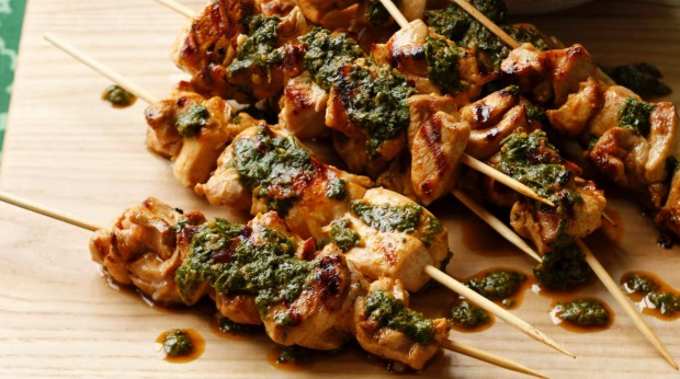 Marinated Chicken Skewers With Chermoula Recipe Good Food