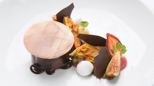 Go-to dessert: the budino di cioccolato might be served with fresh fig.