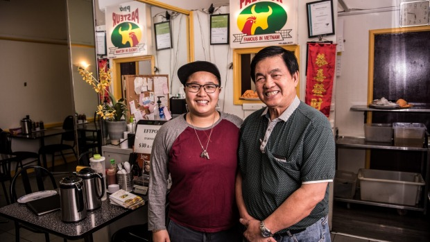 Rita and Van Pham, owners of the never-fails-to-please Pho Pasteur.