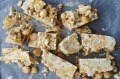White rocky road with crushed honeycomb and toasted macadamias.