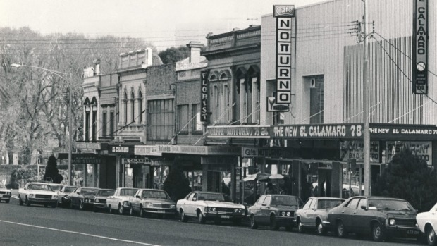 Lygon Street in 1979.