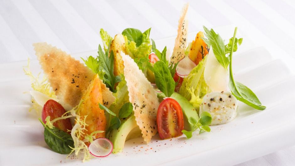 A salad from Restaurant Joel Robuchon in Monte Carlo, Monaco.