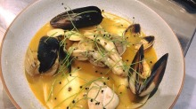 A mussel dish from the opening menu.