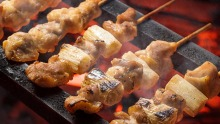 Yakitori (grilled chicken skewers).
