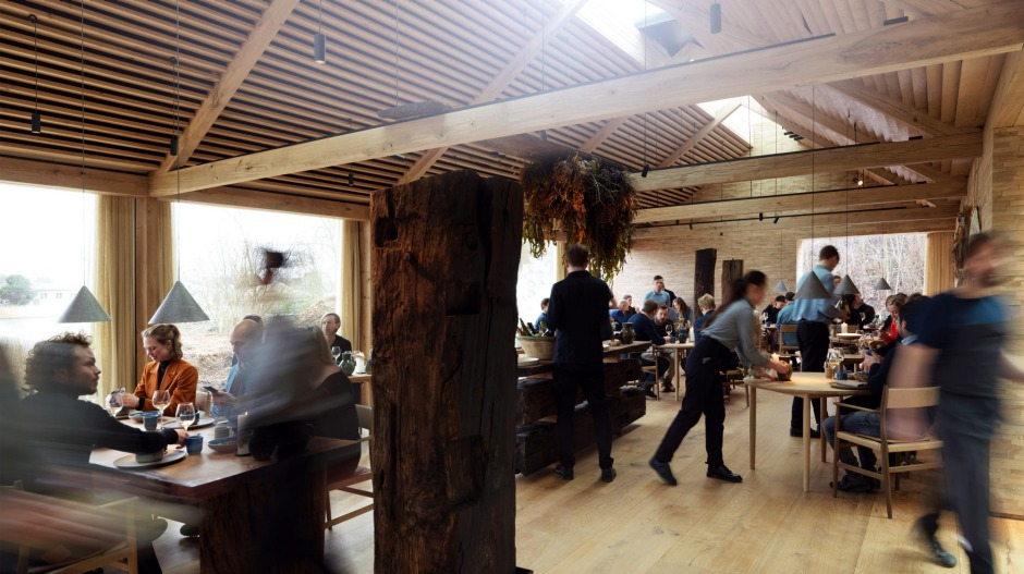 The dining room in full swing at the new Noma in Copenhagen.
