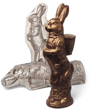 Ganache's gold-dusted Berlin Bunny, $74.99 is made using an antique German mould.