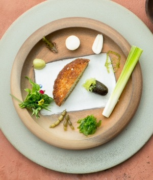 An abalone schnitzel featured on the Noma Australia menu in 2016.