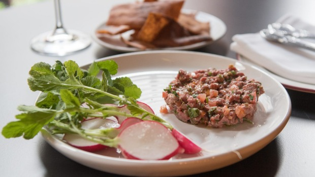 Wagyu kibbeh nayeh, which is like a Middle Eastern steak tartare.