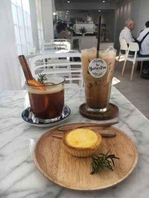 Fancy Thai iced coffee at The Baristro in Chiang Mai.