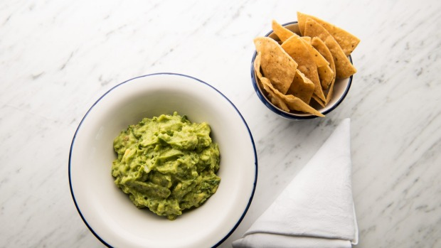 Guacamole is made fresh to order.