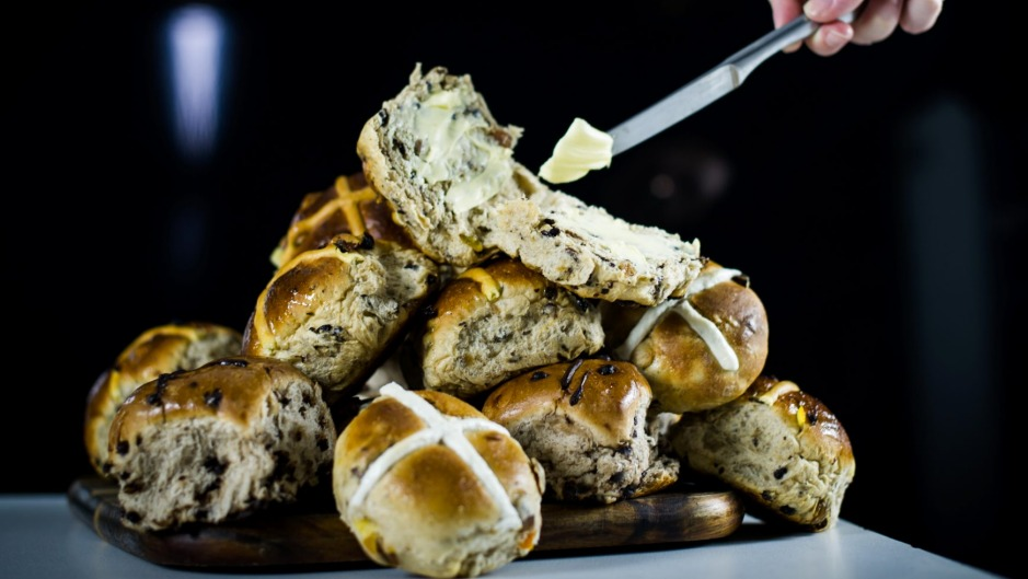 We tasted some of Canberra's hot cross buns. It's a tough job, but somebody's gotta do it.