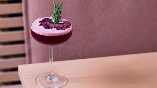 A beetroot beatbox cocktail.