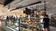 The bakery section of the new David Jones food store at Malvern Central.