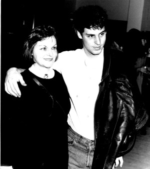 John Fink with his mother, film producer Margaret Fink, at the 1986 premier of her film 'For Love Alone'.