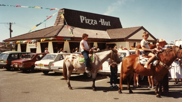 Opening day at Pizza Hut Warrawong in 1979.