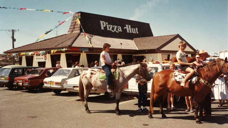 Warrawong Pizza Hut in the 1970s.