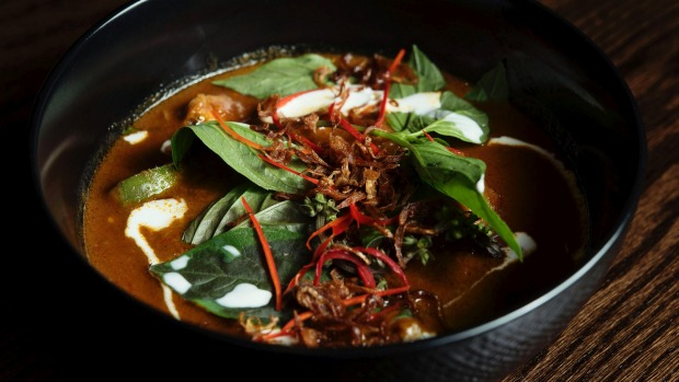 Red curry of slow-cooked Cape Grim brisket and wild ginger.