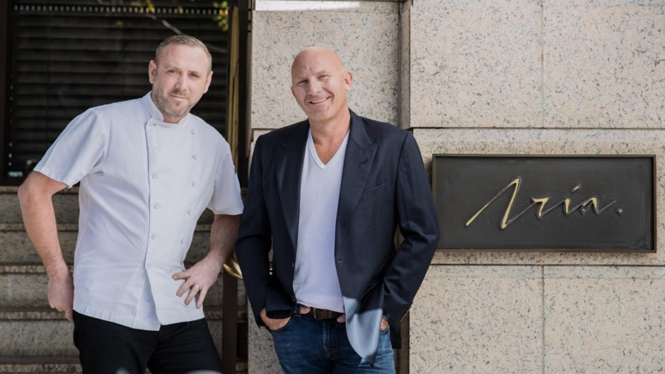 Joel Bickford, the new chef at Aria, with owner Matt Moran.