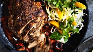 Serving suggestion: Neil Perry's Moroccan-style lamb roast with a simple orange and fennel salad. Just add couscous.