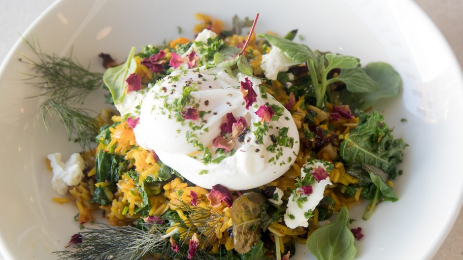 Persian rice kedgeree: any dish with rose petals in it is a winner.