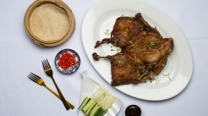 Deep-fried to order: Signature crispy duck at Castlecrag.