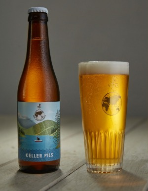 Keller Pils, an unfiltered, unpasteurised pale lager, from Lost and Grounded brewery.