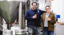 Alex Troncoso and Annie Clements, from Lost and Grounded brewery in Bristol.